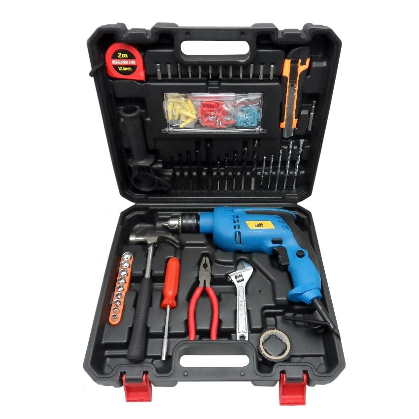 Kaqitools TS-1901 650W household tools kit 13mm Impact Drill Muli-Function Power Tools Set