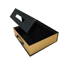 <strong>Black</strong> and Gold high-end book gift Box Packaging