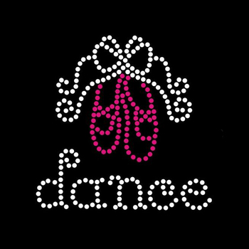 0819N 88*88mm Dance Shoe Transfer Strass Rhinestones Rhinestud Iron on Transfers Motif for T-shirts
