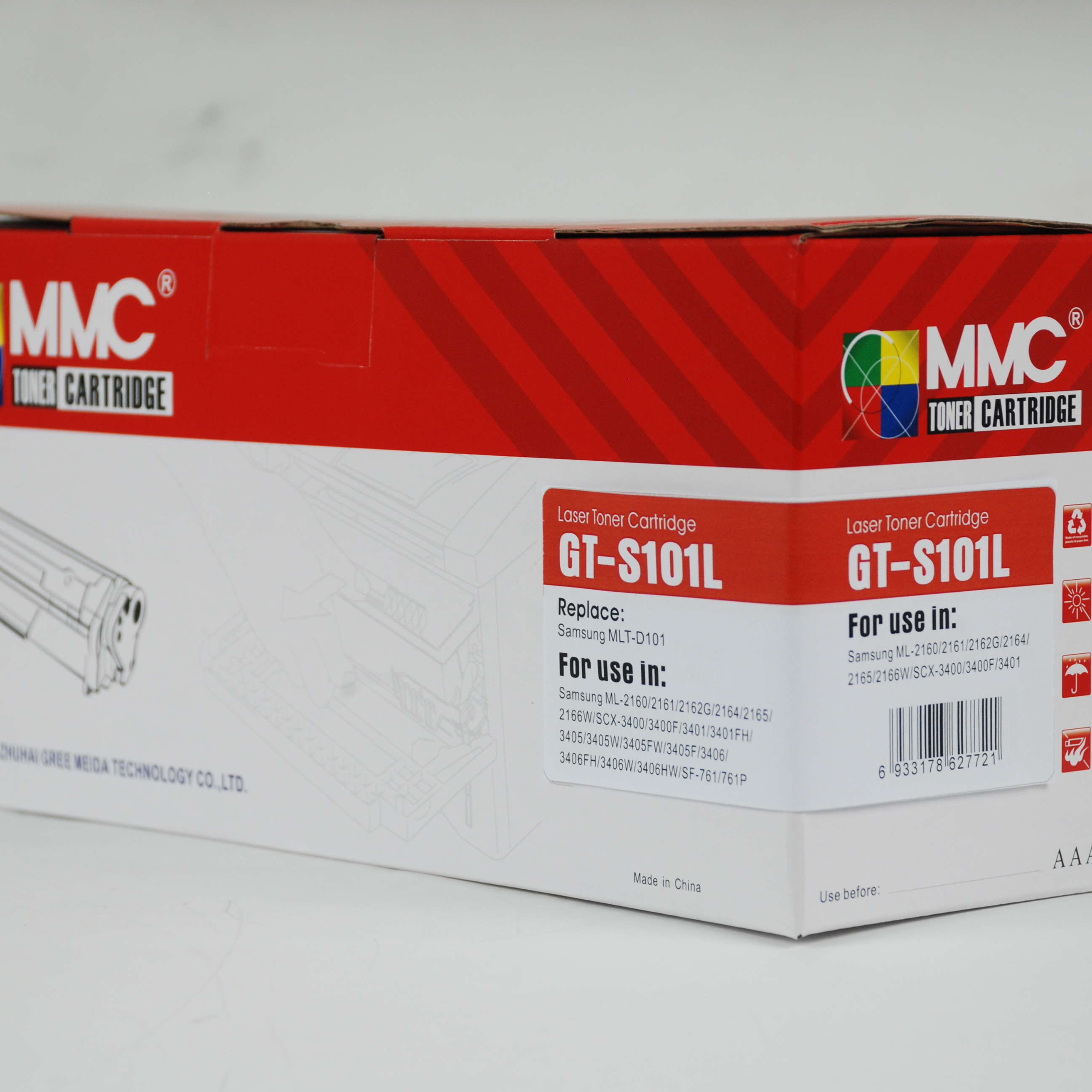 MMC Toner Cartridge for Samsung 101S <strong>D101S</strong> MLT-<strong>D101S</strong> 101 use in ML-2165W/SF-760P/SCX-3405FW