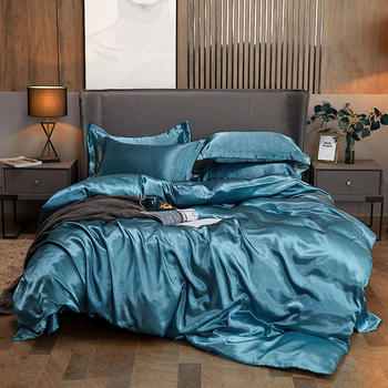 Luxury 4-Piece Satin Silk Twin Bed Sheet Set Bedding Collection/Mulberry Silk Bed Sheet