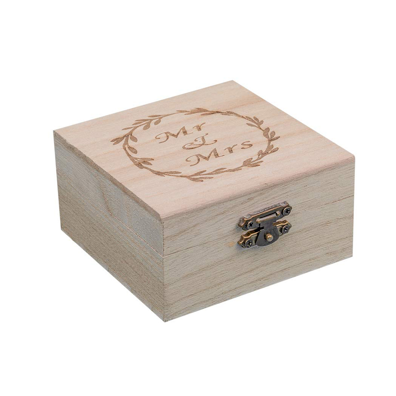 Custom made Wood Ring Box for Wedding Ceremony Rustic Vintage Ring Bearer Box