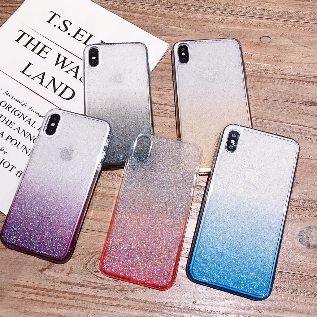 Millet beads Glitter <strong>Case</strong> For Huawei P30 Pro Mate 20 NOVA 5 Pro honor 9X Transparent Gradient Color Powder <strong>Phone</strong> <strong>Case</strong> Back Cover