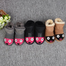 Factory direct sales of sheepskin and wool for boys and girls snowfield cotton shoes wool shoes for children snowfield boots who