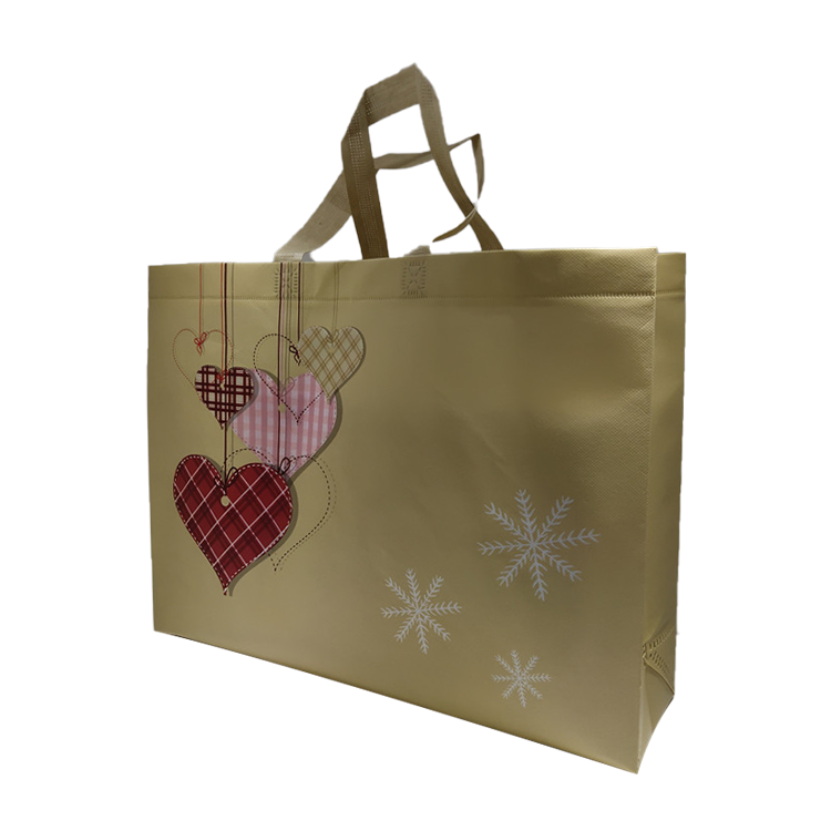 Reusable Grocery Shopping Totes with custom Prints non woven bag Durable Heavy Duty Laminated Waterproof bag
