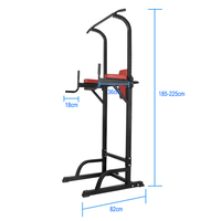 Chin Up Bar Power Tower Pull Push Home Gym Fitness Core