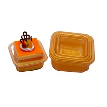 Round Plastic Moon Cake Box Packaging Egg-Yolk Puff <strong>Container</strong> Mooncake Dome Packaging Boxes