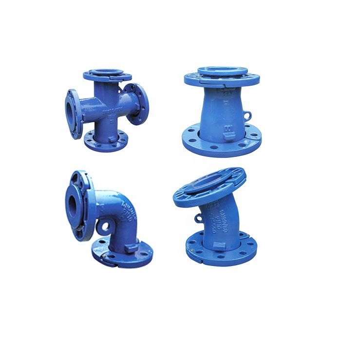 En545 Ductile Iron Pipe Fitting Loose Flanged Tee For Ductile Iron Pipe