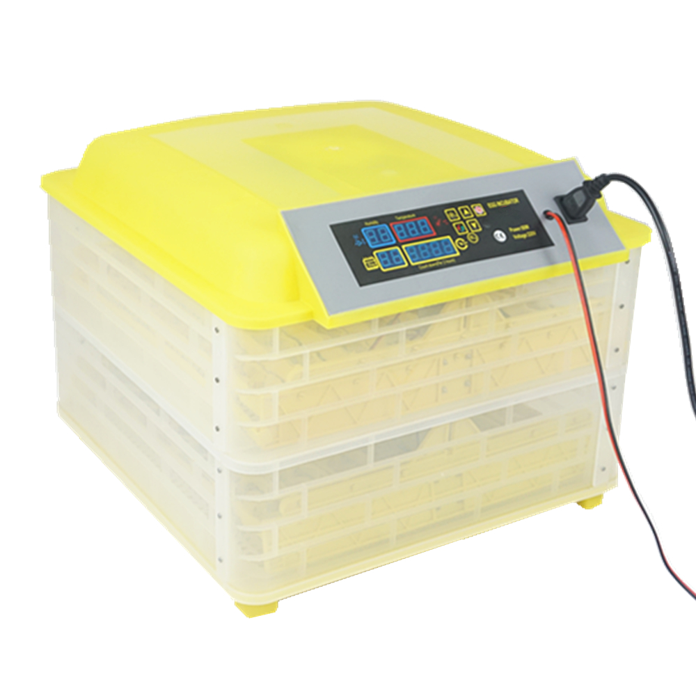 Double Energy Supply 220+12V Automatic 96 Mini Poultry Chicken Egg Incubator for Sale