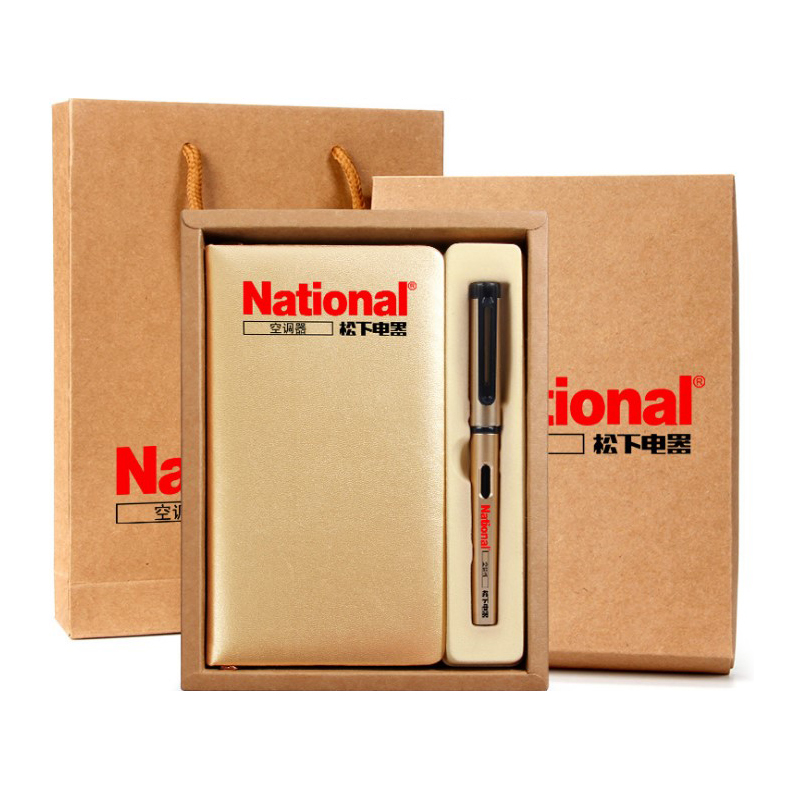 Company office and business gifts, with custom <strong>logo</strong>, pen and notebook gift box set