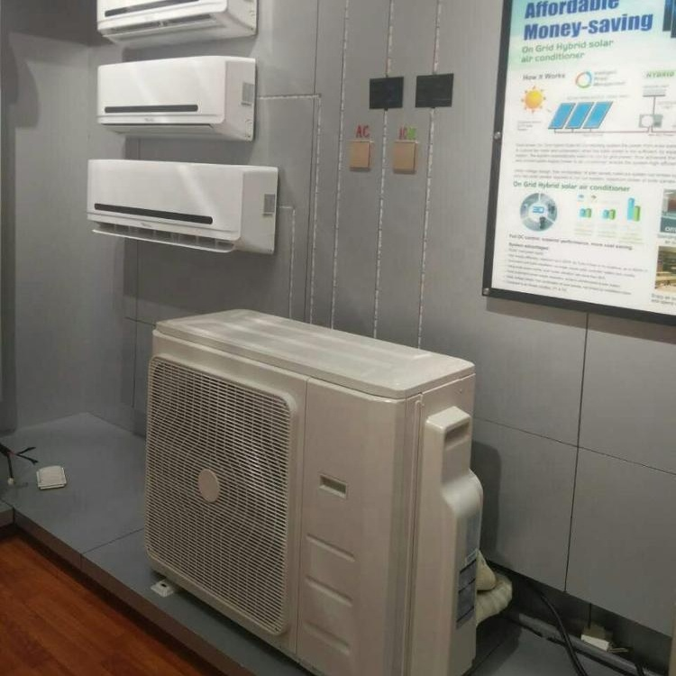 solar air conditioner system batteries 12000BTU/<strong>ac</strong>/dc hybrid solar power split air conditioner