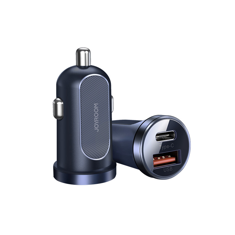 Joyroom <strong>A08</strong> 30W dual usb port QC3.0 PD fast charging fireproof safty protection CE ROHS FCC mini car charger for samsung for IOS