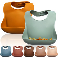 Modern BPA Free Silicone Bucket Bib Wholesale Waterproof Silicone Bib for Babies