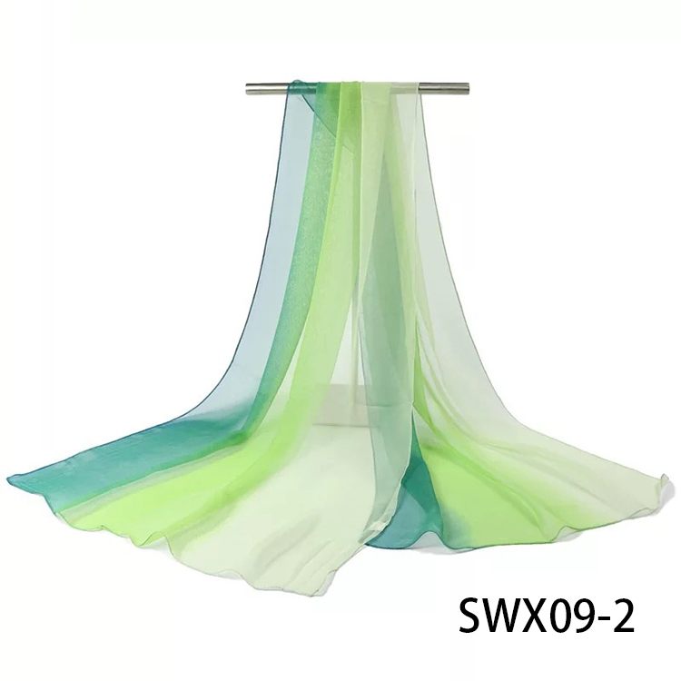 Fashion Women Mixed Color Polyester Scarf Beach Sun Proof Shawl