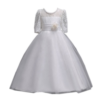 Hot Sale Lace And Mesh Flower Girl Dresses For Kids