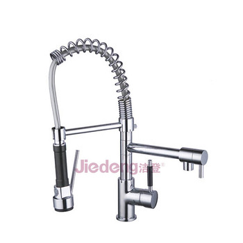S23 Exquisite single handle brass kitchen faucet