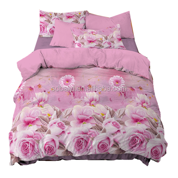100 polyester bedsheet Red 3D pink brown flower Rose Cotton queen size Bed Duvet/Quilt Cover Sets <strong>sheet</strong>