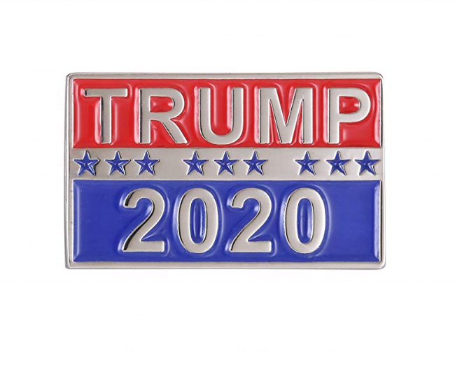 Ready stock high quality custom <strong>metal</strong> cheap US Election Donald Trump 2020 Make America Great Again souvenir lapel pin badge