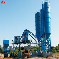 precast cement equipment low use cost advanced system configuration HZS75 concrete mixing plant