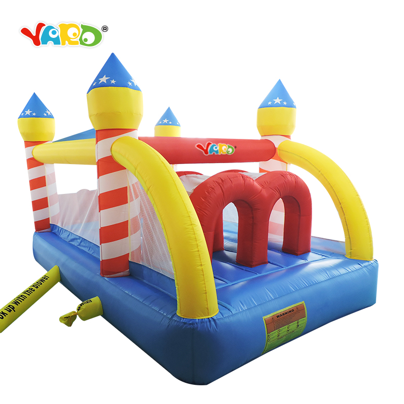 Nylon indoor blow up bouncy house jumping castle bouncer kids party game