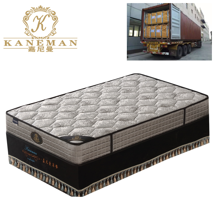 vacuum packed continuous spring mattress compressed in pallet cheap mattress - Jozy Mattress | Jozy.net