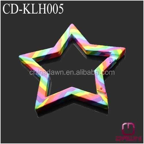 Star shaped disruptive pattern keychain hook CD-KLH006