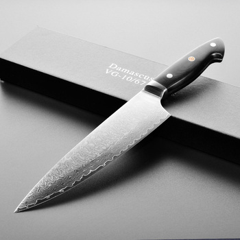 "New Arrivals 8"" Blank Steel Japanese VG10 Damascus Chef Knife"