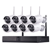 1080P 8 Channel Onvif Ihome Security NVR Kit Wireless Safety Wifi Decentralized Wireless Night Vision IP Cctv Camera System