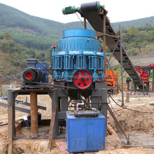 Cone 100 TPH Stone Crusher Plant with jaw crusher