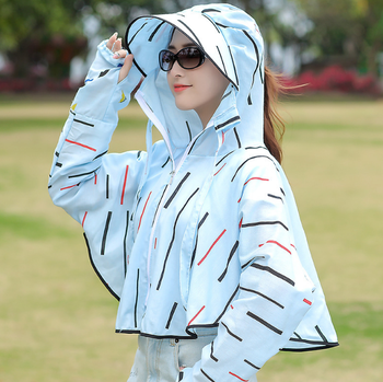 New design long sleeve womens summer uv sun protection clothing with hat