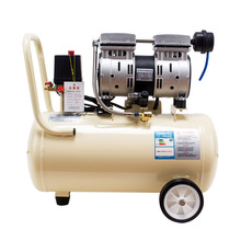 Small Silent Oil-free Rocking Piston High Pressure Portable Air Compressor 2.2KW 120L Lower Noise Movable Blowing Dust Air Pump
