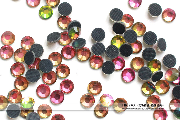 Y0912 2mm crystal color hot fix transfer flatback strass China AAAA cheap iron-on crystals wholesale SS6 SS8 SS10 ss4