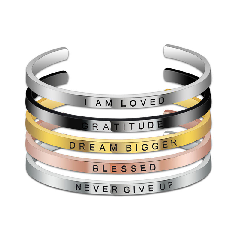 2019 New Arrivals Fashion <strong>Jewelry</strong>,Jewellery Stainless Steel Custom Inspirational Bracelets Bangles Wholesales