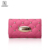 Leather women's pink color Key Organizer Wallet Key Holder Wallet custom trip leather key pouch wallet