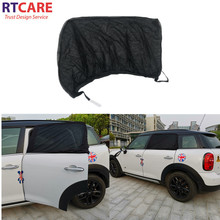 summer black mesh foldable car side sunshade cover