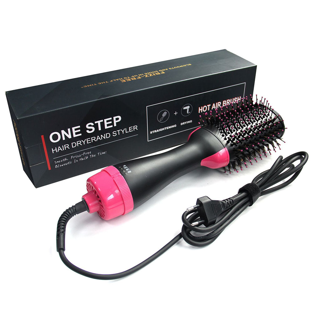 One Step Hair Dryer Volumizer Hot Air Brush <strong>3</strong> in1 Styling Brush Styler Negative Ion Hair Straightener Curler Brush for All Hair