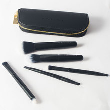 Großhandel tragbare schwarz 5 teile/beutel kosmetische make-up pinsel set make-up sets