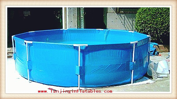China factory price above ground metal frame pools