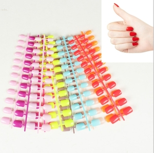 12 Different Size Natural Short False Nails Acrylic Full Cover Nails