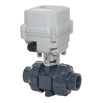 DC12-24V 2-way DN15 1/2 inches UPVC inserting electric water ball valve without thread