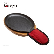 Oval Cast Iron Steak Hot Sizzling <strong>Plate</strong> Restaurant Dinner <strong>Plates</strong>