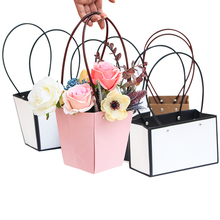 Online Wholesale Pink Color Plant Bag Kraft <strong>Paper</strong> Tote bag Flower Box Flower Wrapping Bag 10 pcs Waterproof 2019406NPSTD