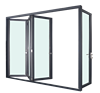 Commercial Aluminum Window Frames Accordion Windows and Industrial Steel Frame Window Doors YY construction