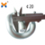 China locomotive accessories railway fastening system tension clamp rail elastic clip