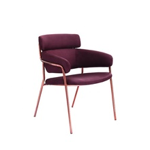 nordic designer <strong>furniture</strong> for restaurant rose gold stainless steel metal dining chair
