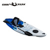 Cool kayak Popular single fishing boat sit on top cheap plastic kayak recreational rowing boats