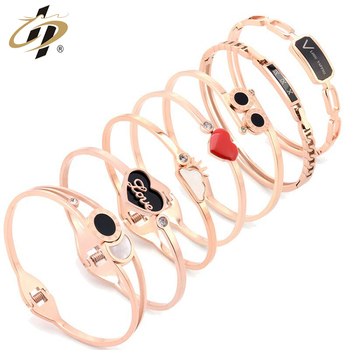 Minimalist Japanese Korean rose gold titanium steel does not fade bracelet jewelry mother's day