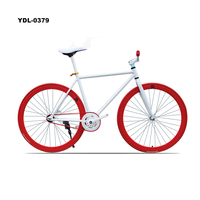 China Wholesale Double V Brake Fixed Gear Bikes Single Speed Bicycles