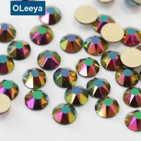 New Colors Shiny SS20 Crystal 2088 Cut 16 Facets Rose Gold AB Glass Non Hot fix Nail Rhinestones for Nail Art Decorations