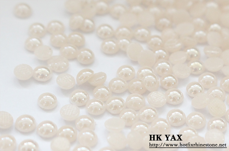 S0818  hot fix pearl Beads Mix Colors Half Round Flatback Pearls 2mm,3mm,4mm,5mm,6mm flat back hot fix half round pearls